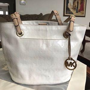 Michael Kors White Patent Leather Bag